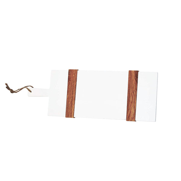 White and Natural Petite Rectangle Cheese Board