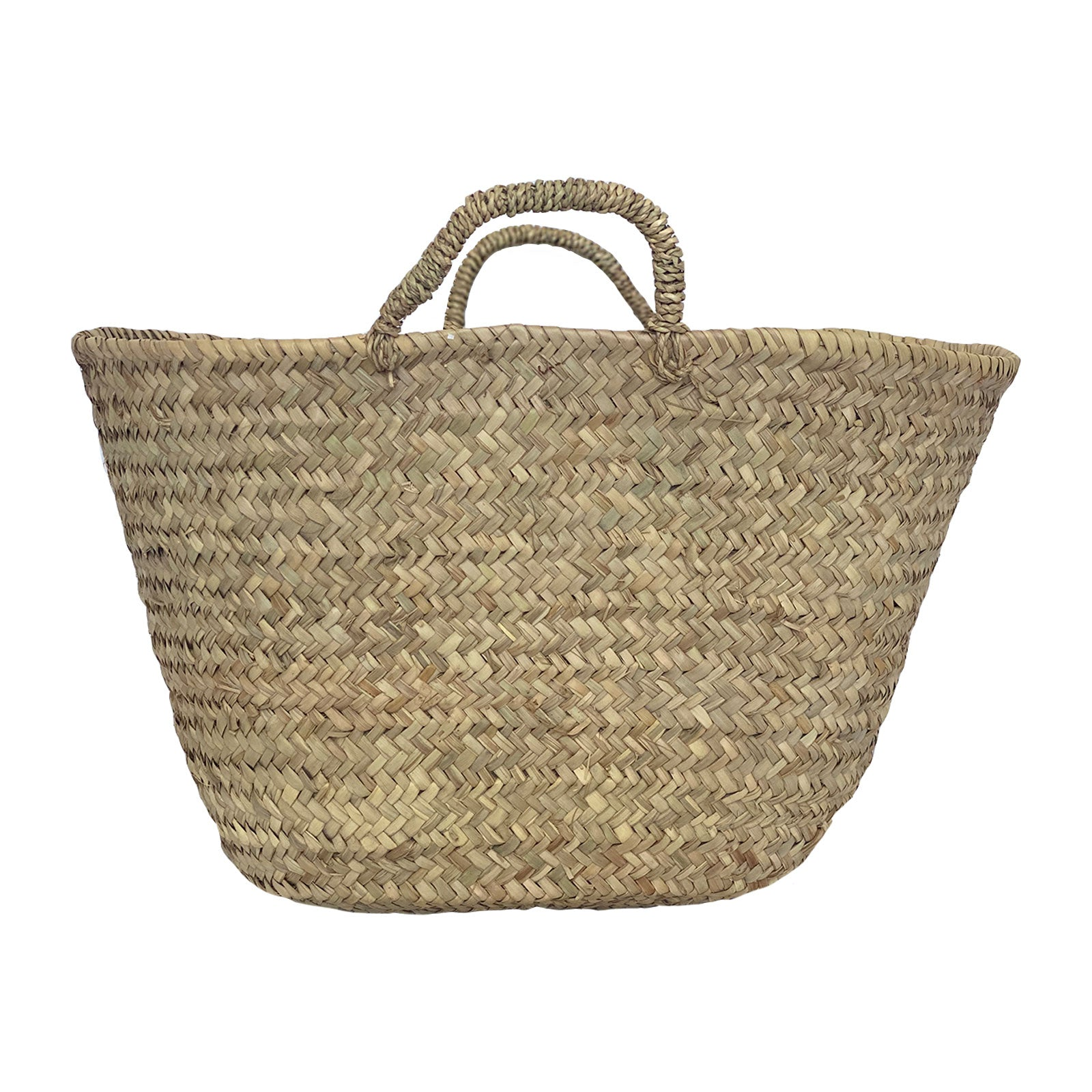 Basket Tote with Woven Handles