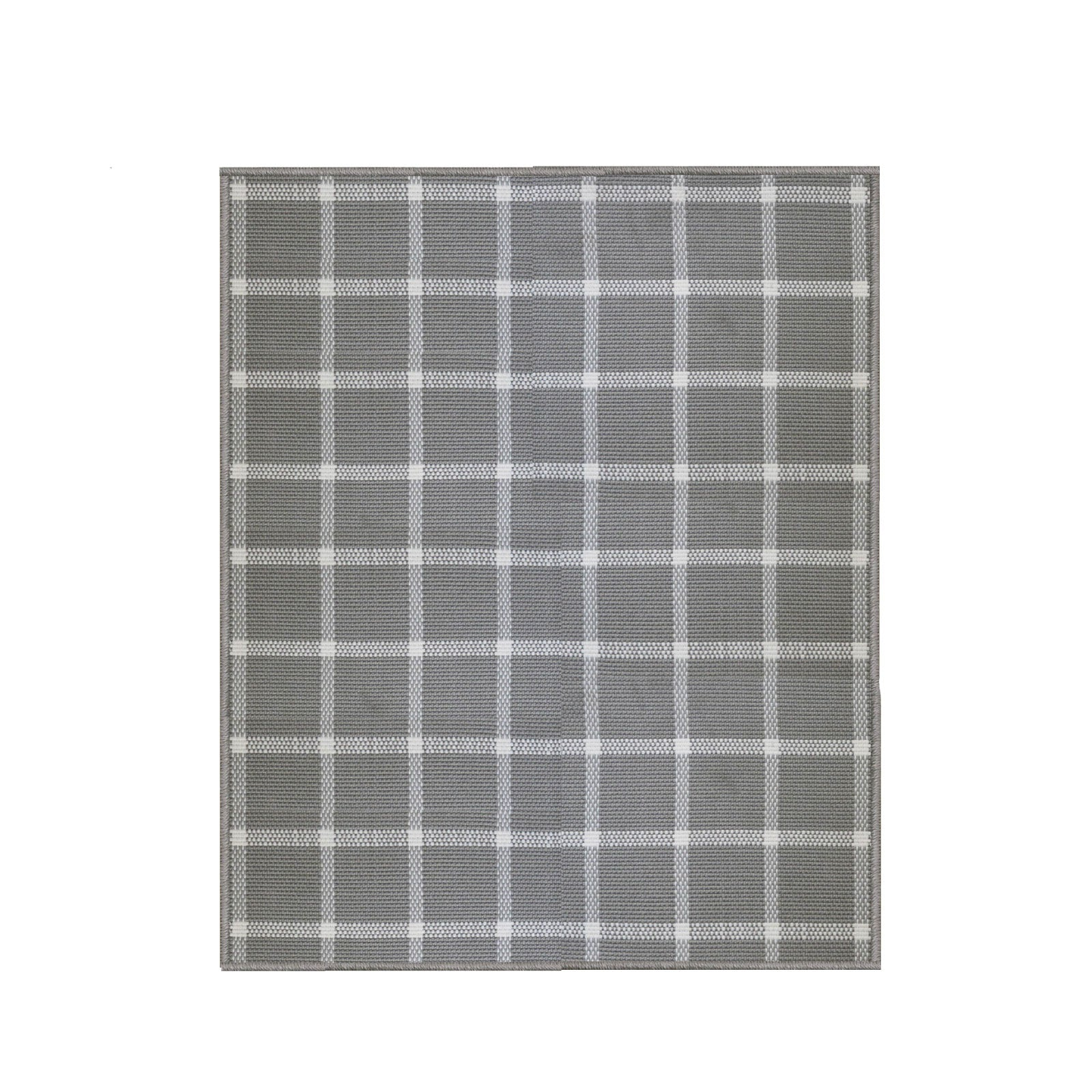 Windowpane Rug in Grey