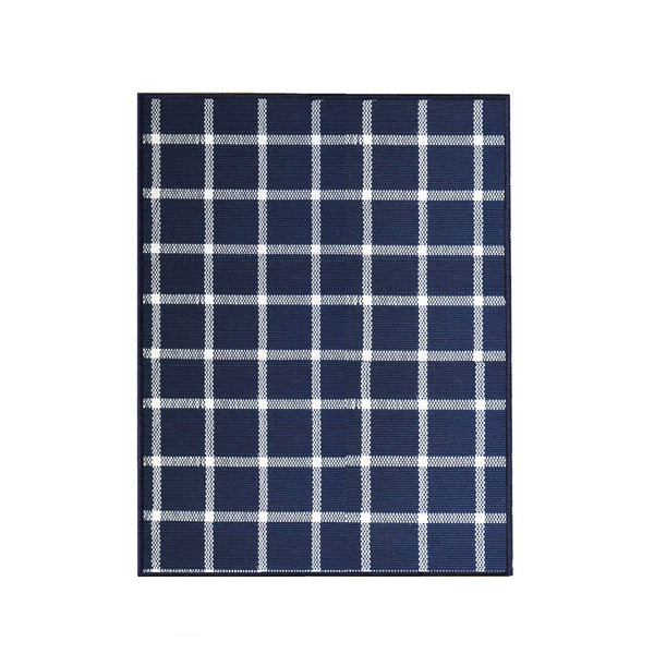 Windowpane Rug in Navy