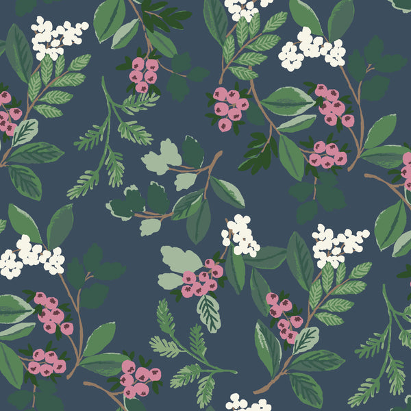 Winter Berry Fabric in Multi