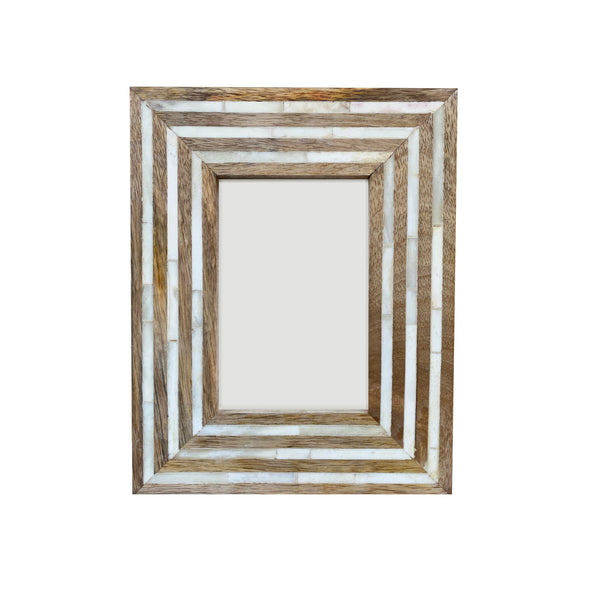 Wood Striped Picture Frame