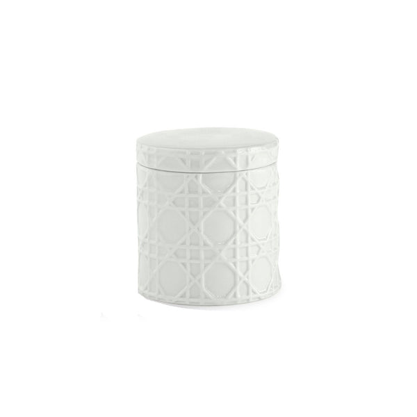 Woven White Cotton Jar