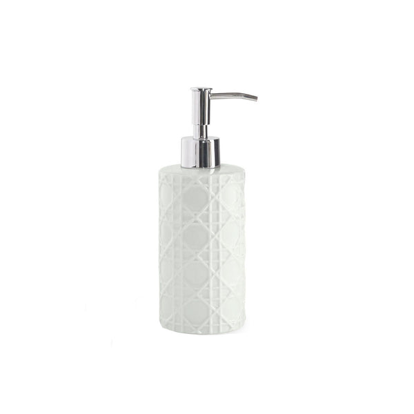 Woven White Lotion Dispenser