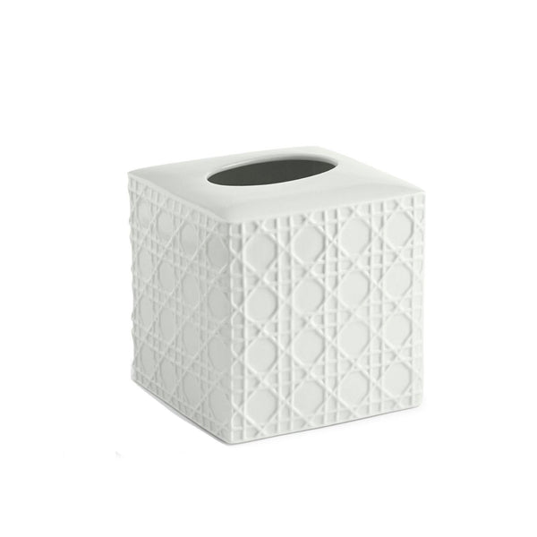 Woven White Tissue Holder