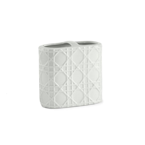 Woven White Toothbrush Holder