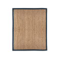 Woven Jute Rug with Cotton Border