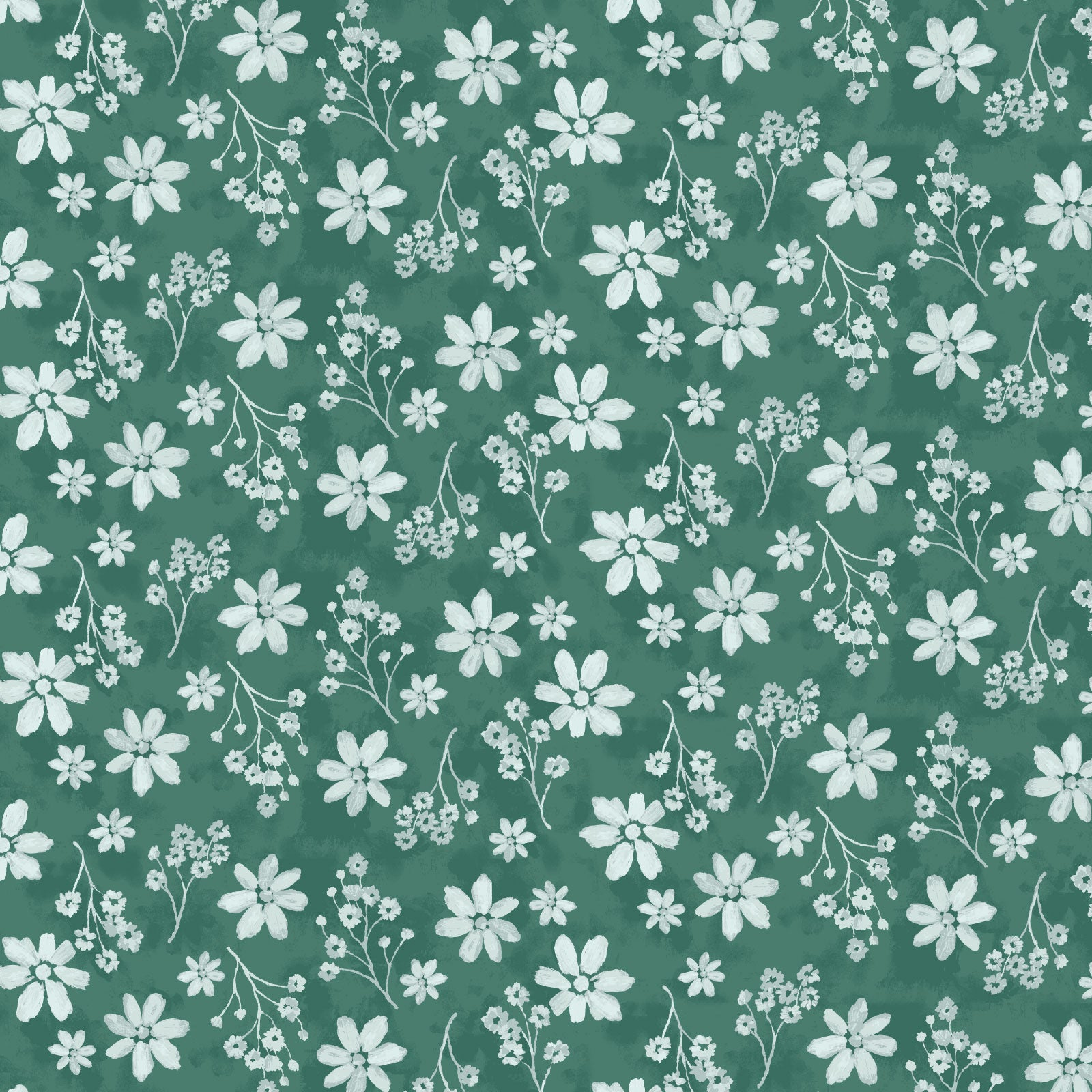 Zoe Fabric in Deep Green