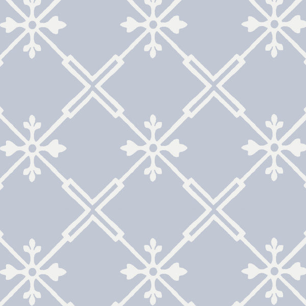 Audrey Wallpaper in Light Blue