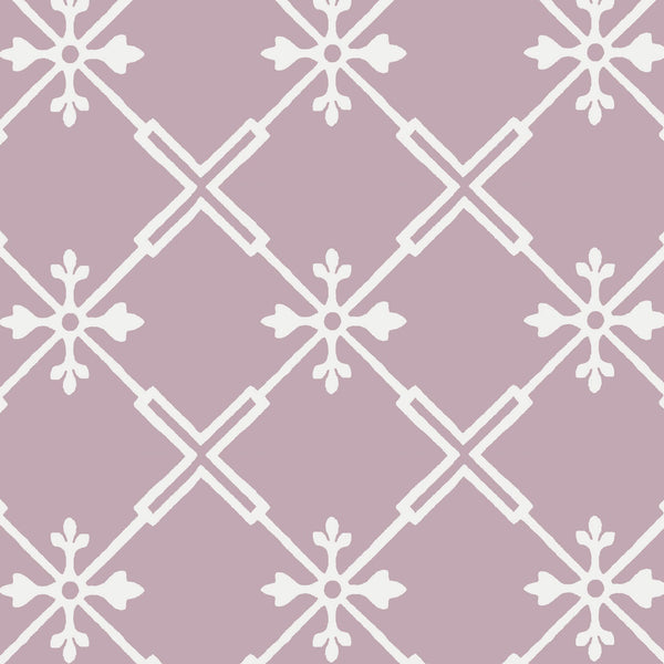 Audrey Wallpaper in Lilac