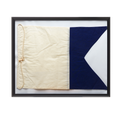 Vintage Nautical Framed Flag No.1