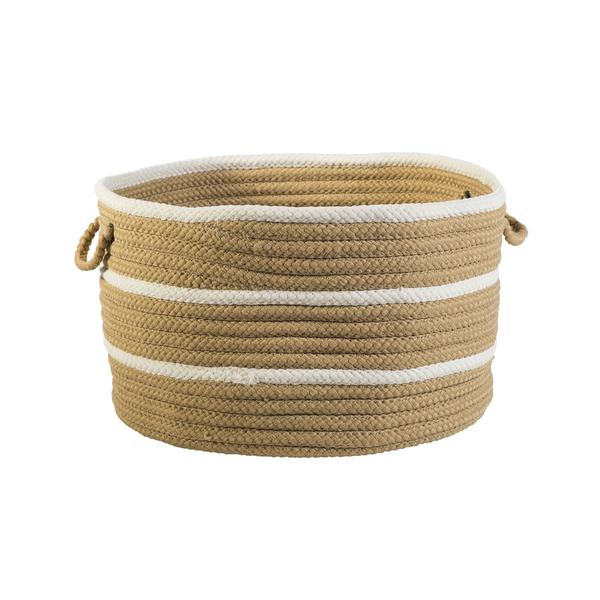 Sonny Stripe Basket in Camel