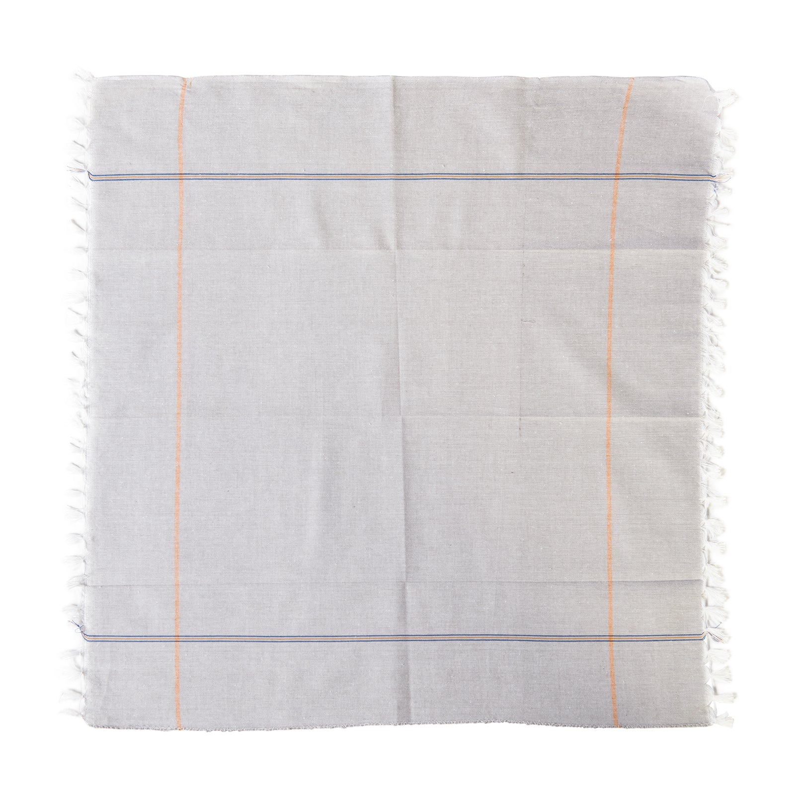 Indian Hand Towel in Grey and Coral