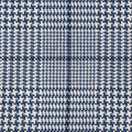 Dark Blue Houndstooth