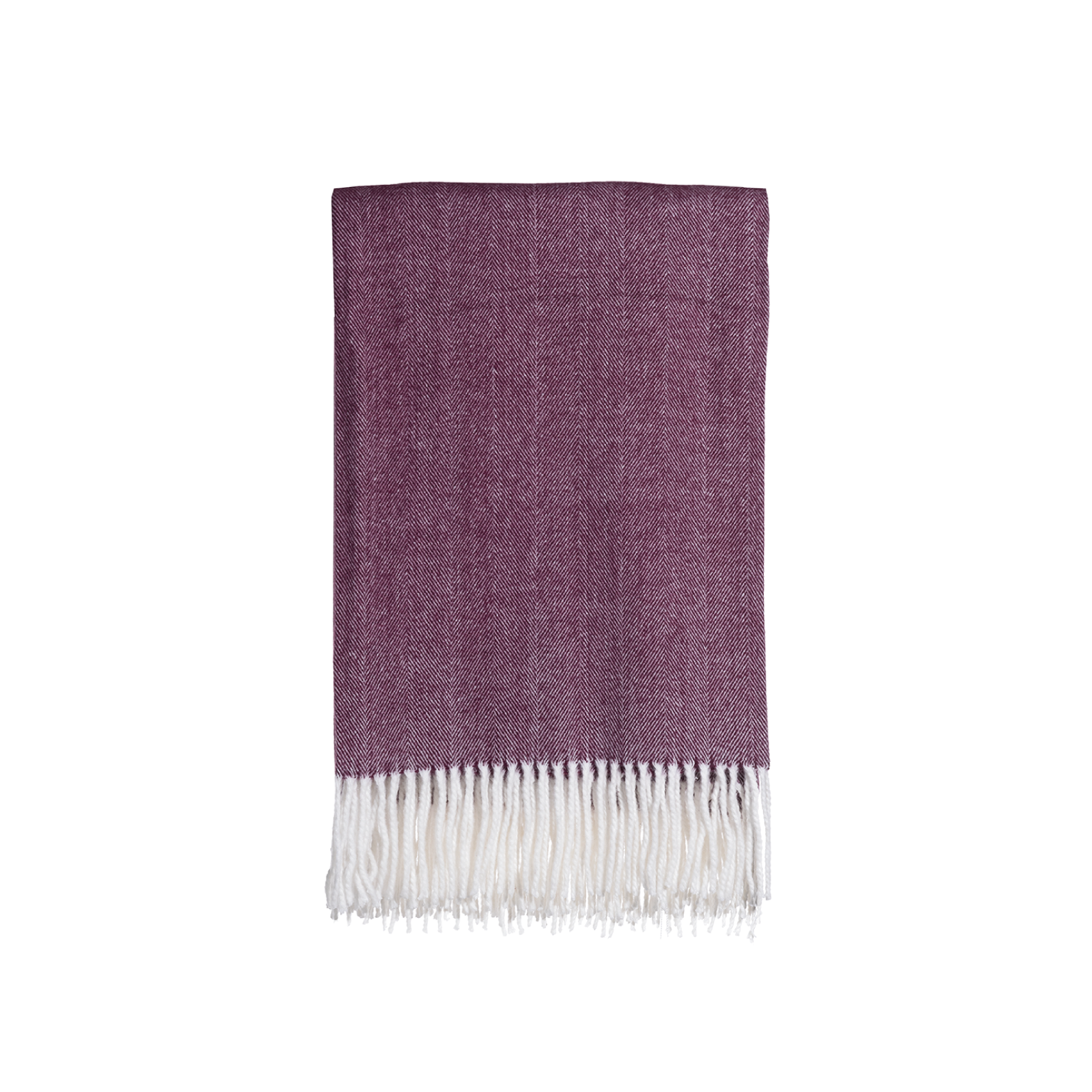 Gemma Throw in Pomegranate Herringbone