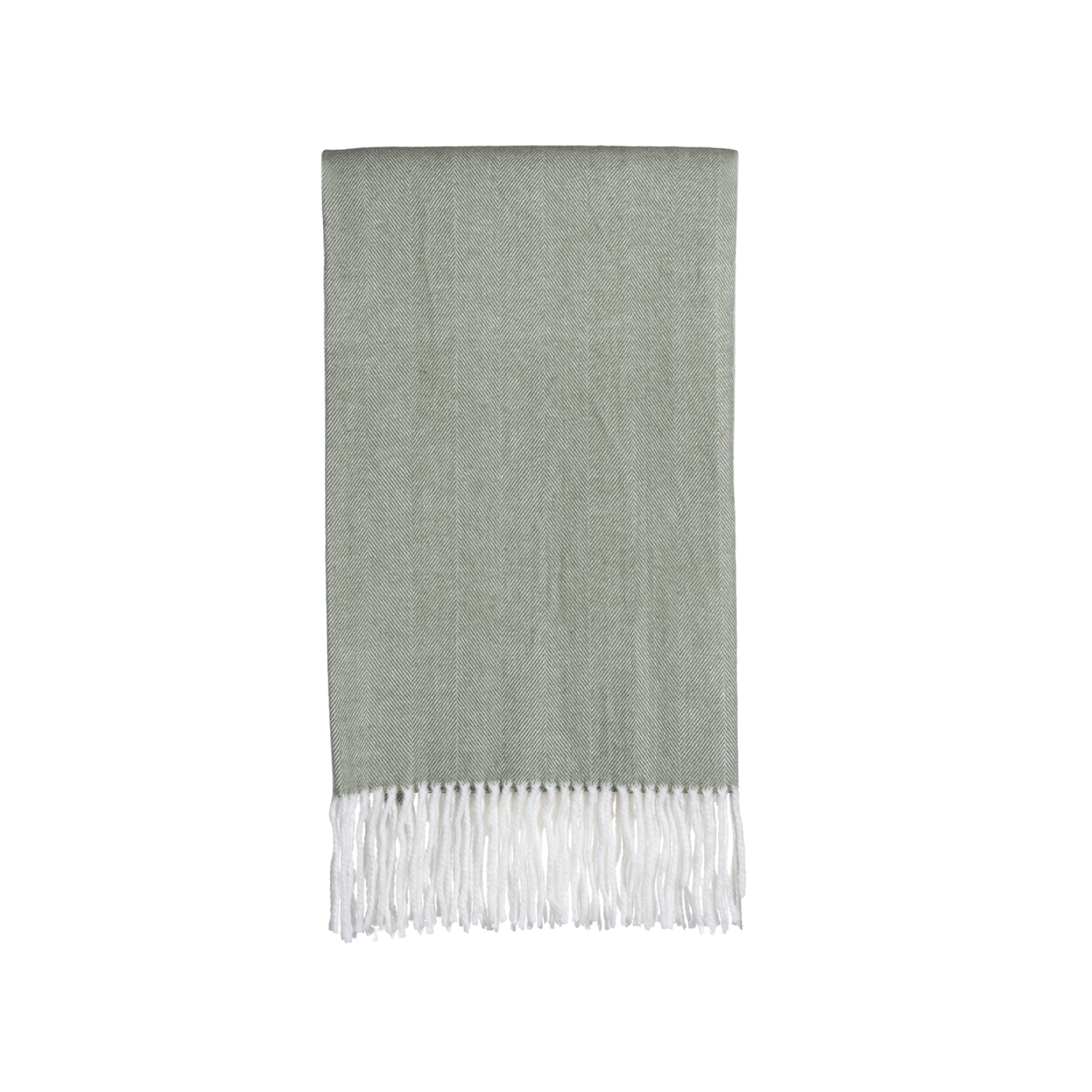 Gemma Throw in Sage Herringbone no. 1