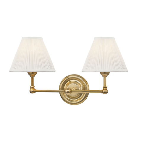 George Double Sconce in Brass