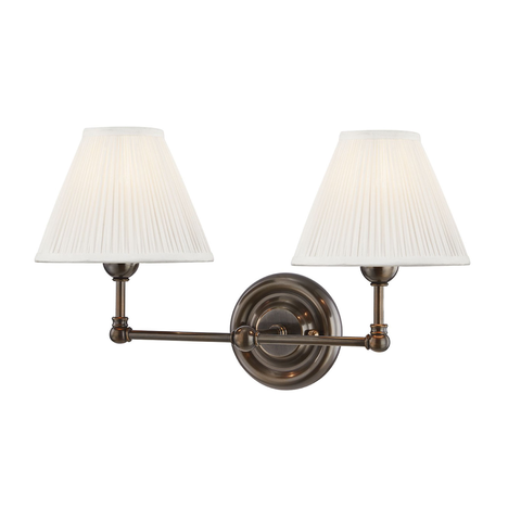 George Double Sconce in Bronze