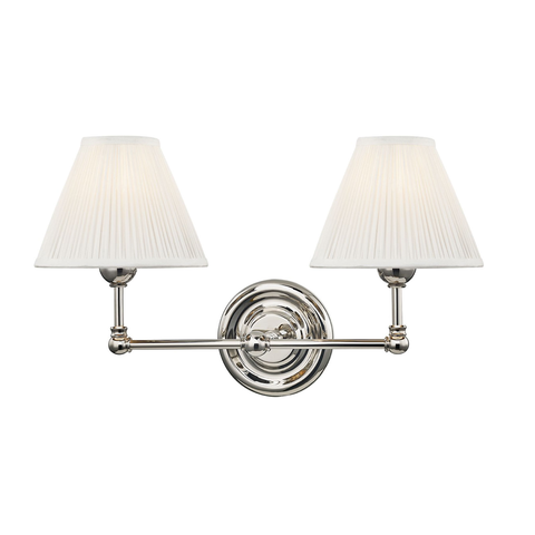 George Double Sconce in Nickel