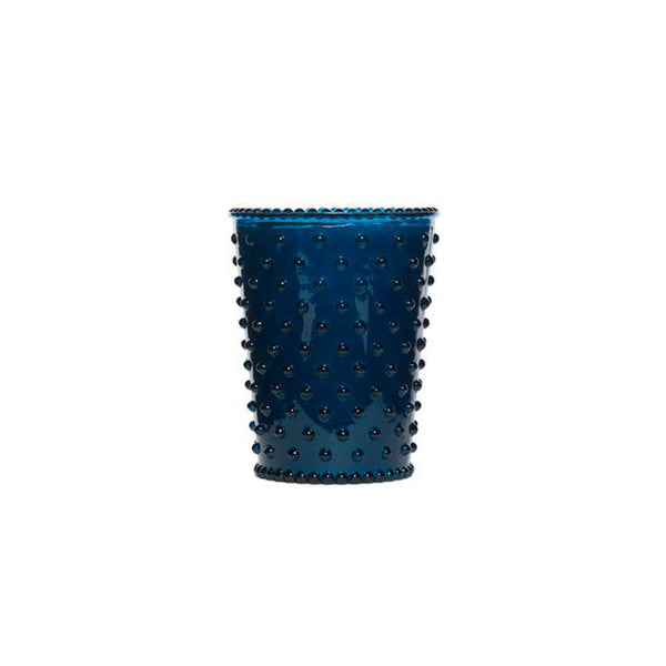 Hobnail Glass Candle Ambergris