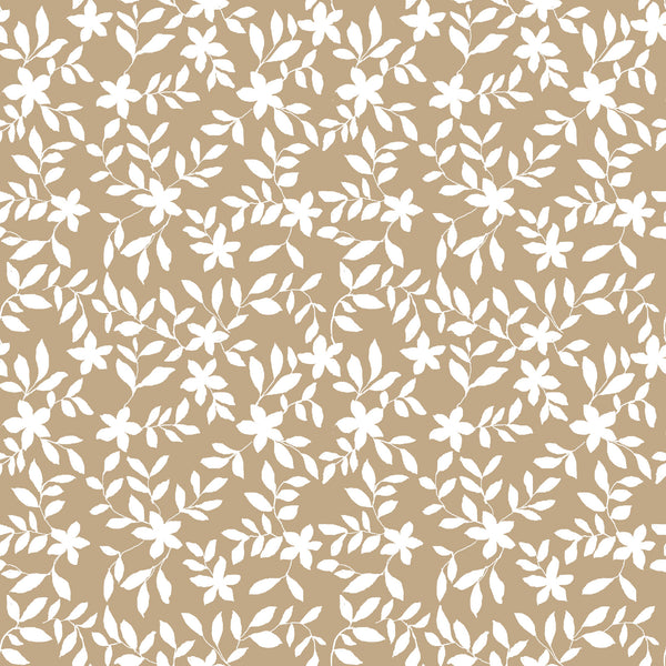Jo Floral Fabric in Camel