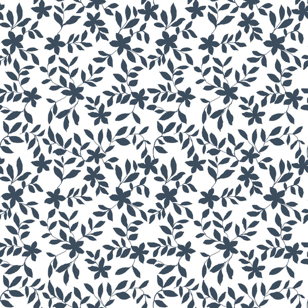 Jo Floral Fabric in Navy