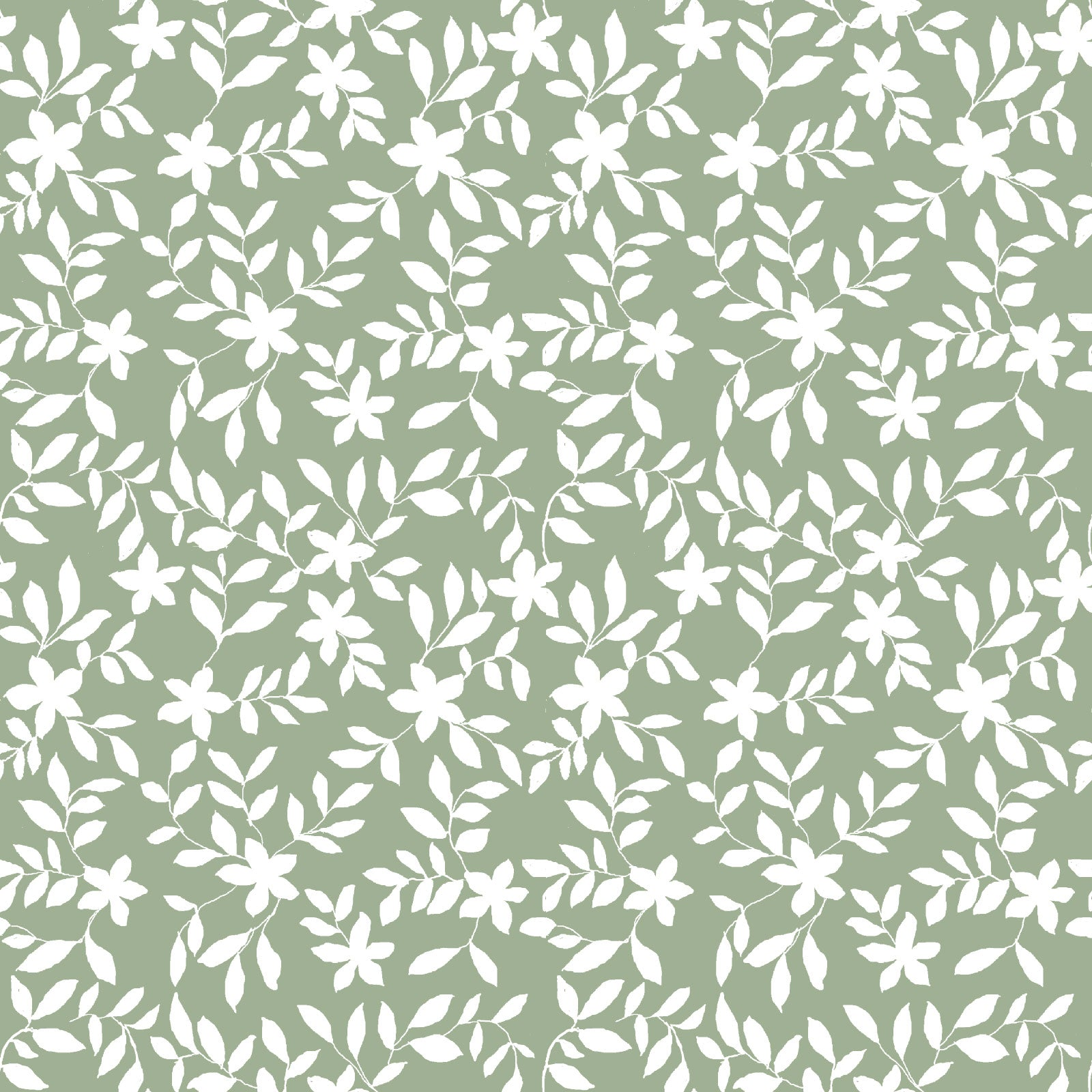 Jo Floral Fabric in Sage