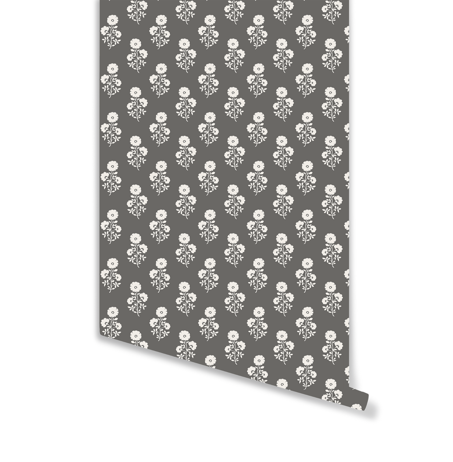 Julia Floral Wallpaper in Charcoal