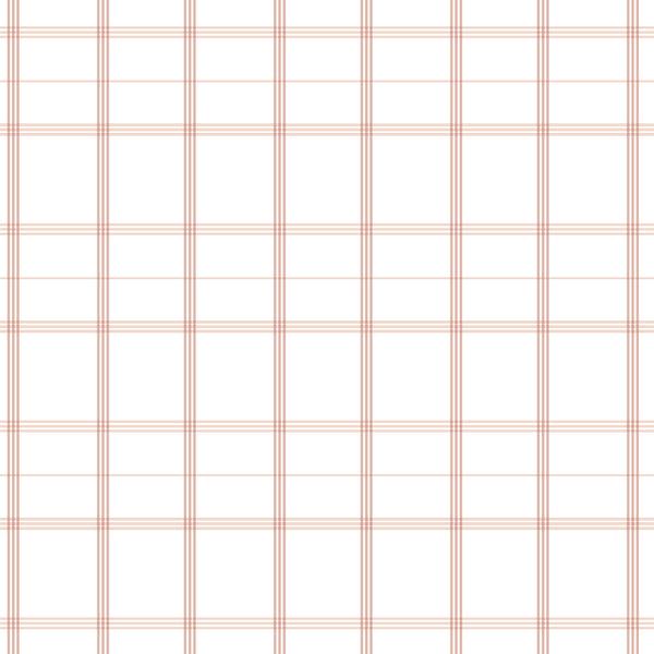 Linden Plaid Fabric in Soft Coral