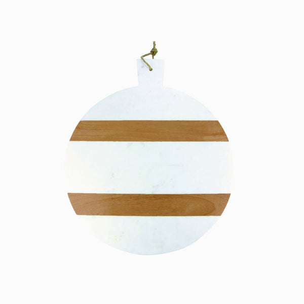 Marble & Wood Striped Cheese Board