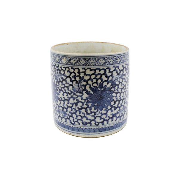 Navy Floral Vineyard Pot