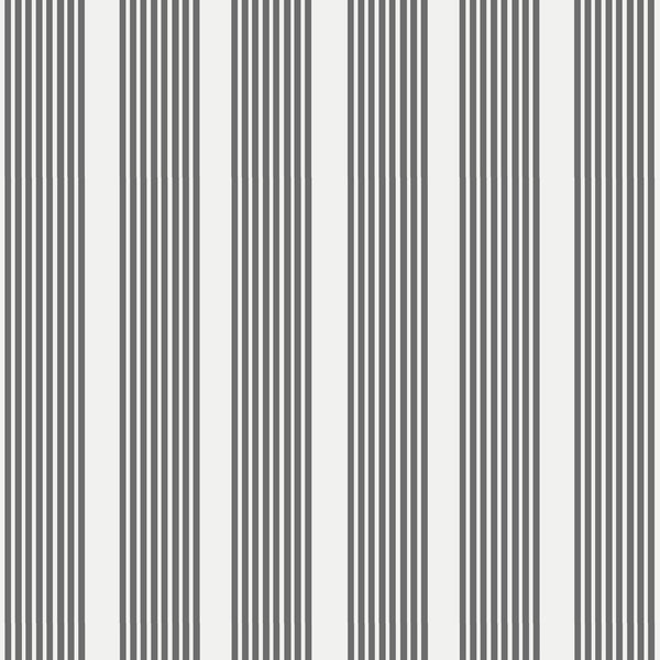 Oscar Stripe Fabric in Charcoal