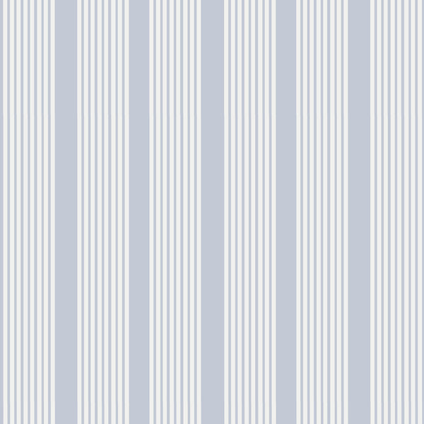 Oscar Stripe Fabric in Light Blue