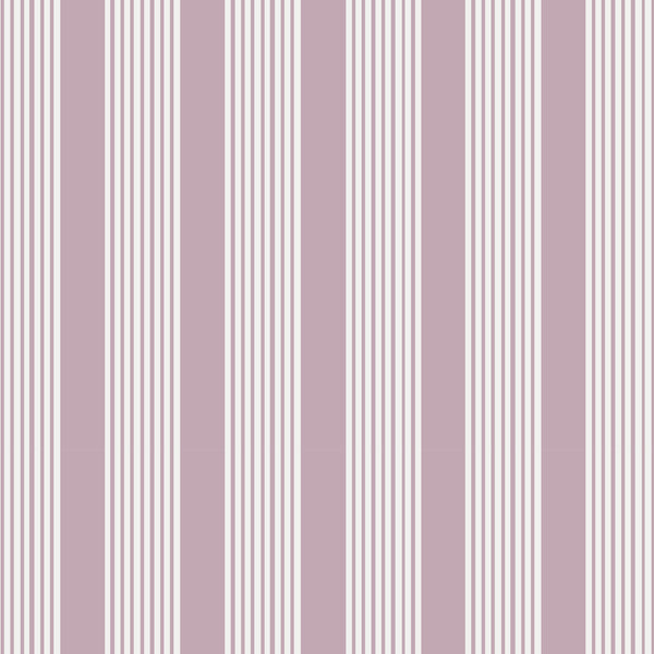 Oscar Stripe Fabric in Lilac
