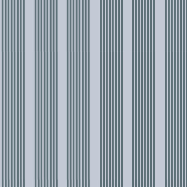 Oscar Stripe Fabric in Navy