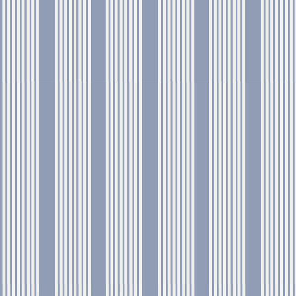 Oscar Stripe Fabric in Periwinkle