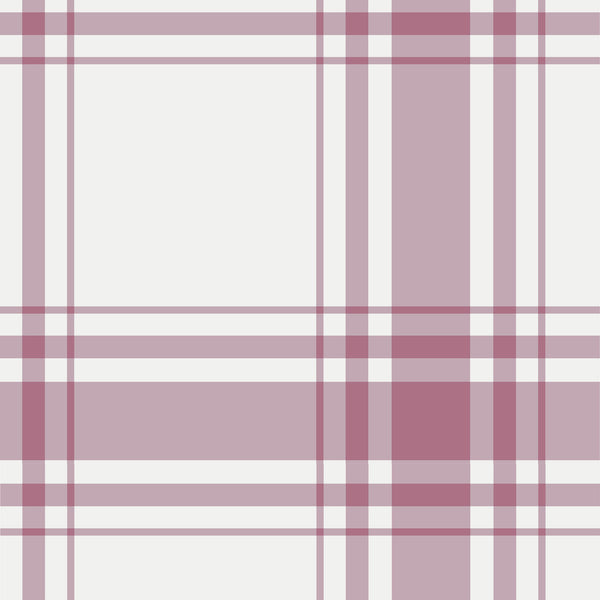 Oxford Plaid Fabric in Rose