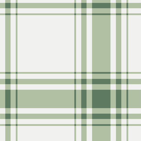 Oxford Plaid Wallpaper in Sage