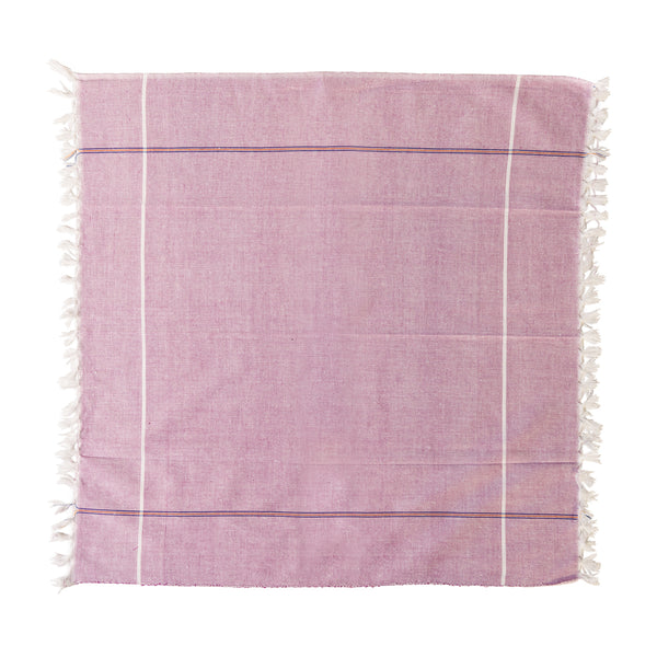 Vintage Indian Hand Towel - Plum