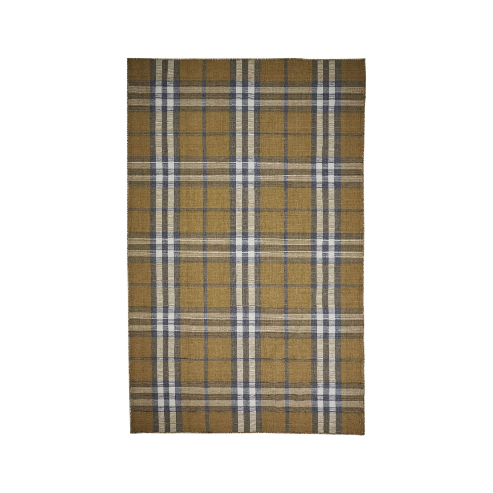 Rae Rug in Gold Plaid