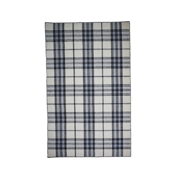 Rae Rug in Ivory Plaid