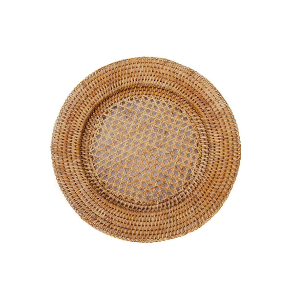 Woven Round Charger in Honey