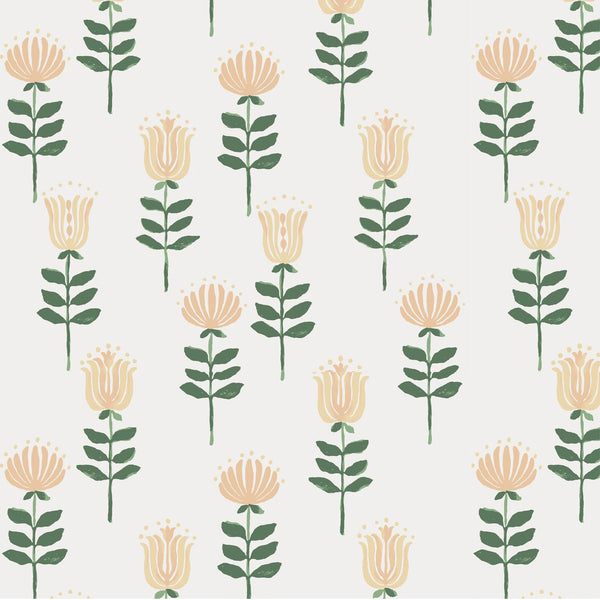 Willa Wallpaper in Honey
