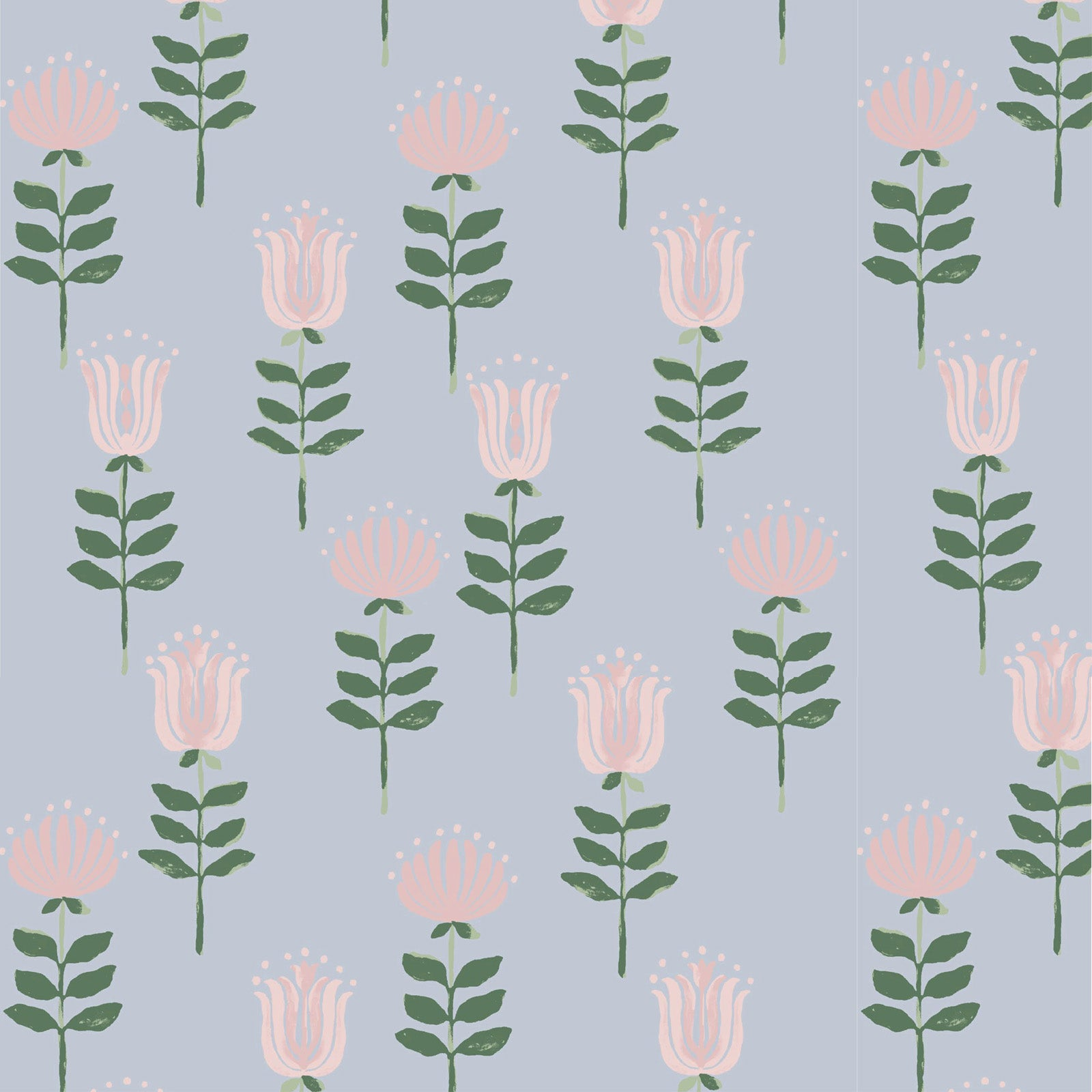 Willa Wallpaper in Light Blue