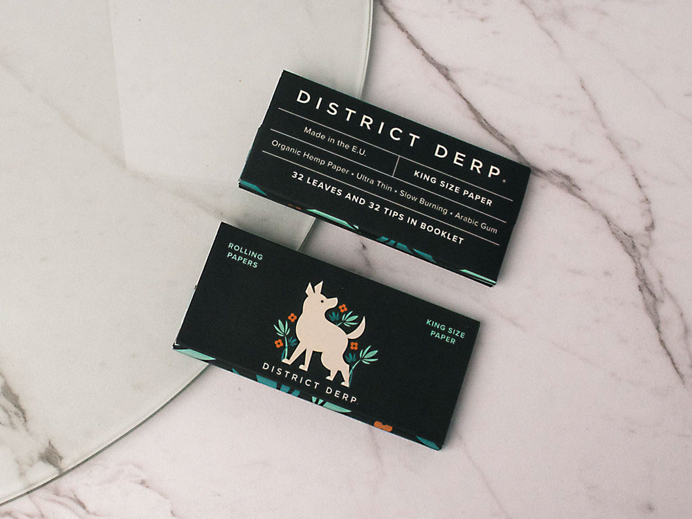 DIstrict Derp® Rolling Papers + Lighter Duo