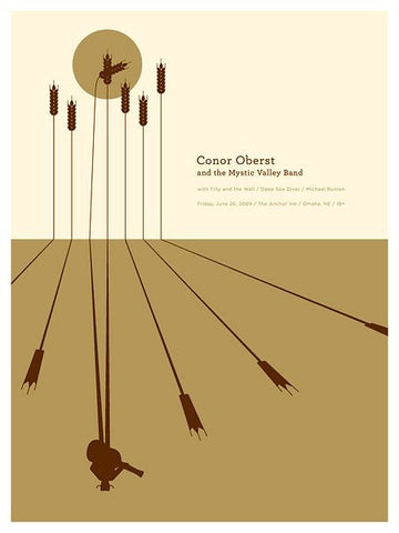 Conor Oberst Poster by Jason Munn