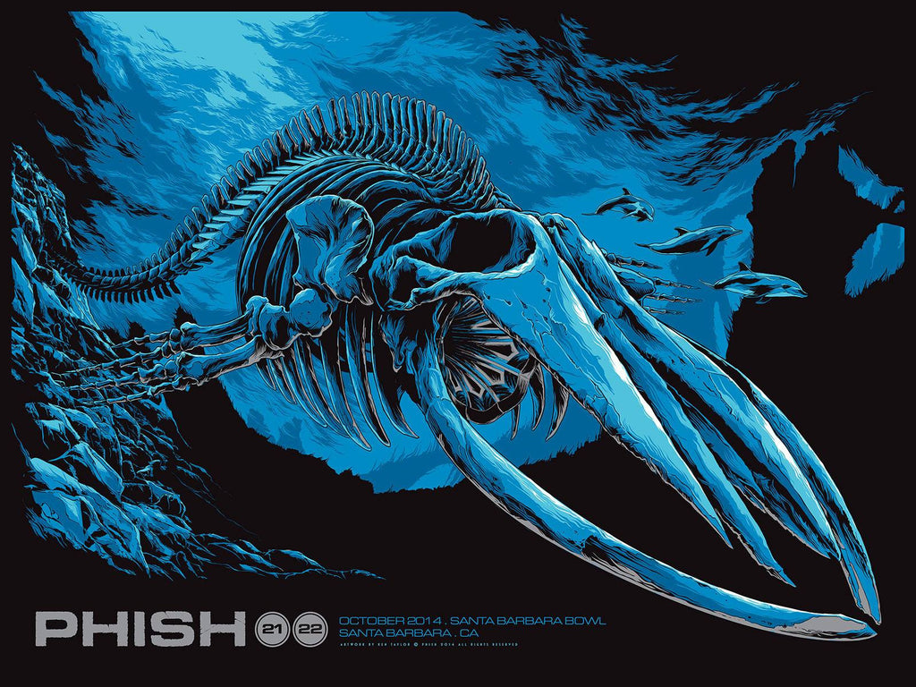 Phish Santa Barbara Poster by Ken Taylor