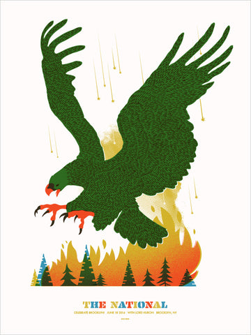 The National Concert Poster by Spike Press (Eagle)