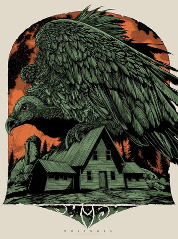 "Phish ""Vultures"" Poster by Ken Taylor (Green)"