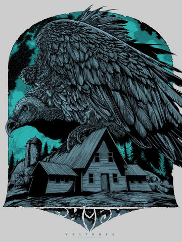 "Phish ""Vultures"" Poster by Ken (Blue)"